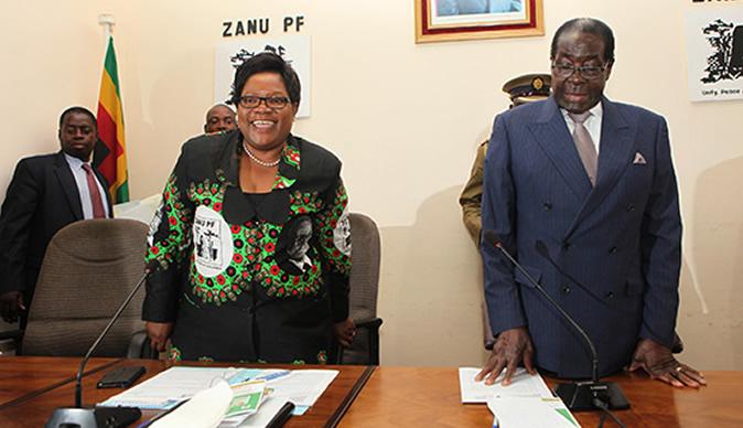 Robert Mugabe's new opponent: his 'daughter' Joice Mujuru
