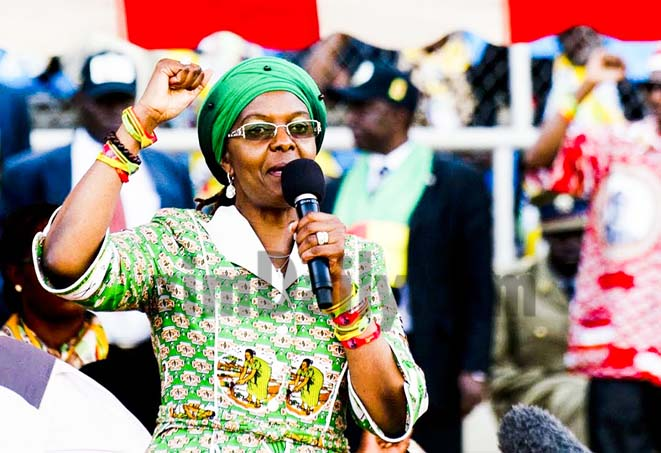 Grace Mugabe t-shirts spark running battles at Heroes Acre