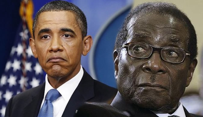 Mugabe rants at whites, Obama