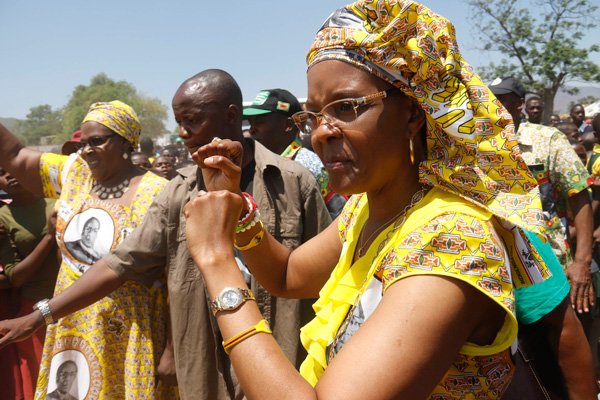 Zimbabweans say Grace Mugabe elbowing 'Enemies' to succeed Mugabe