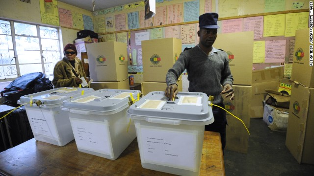 What happened on Election Day in Zimbabwe?