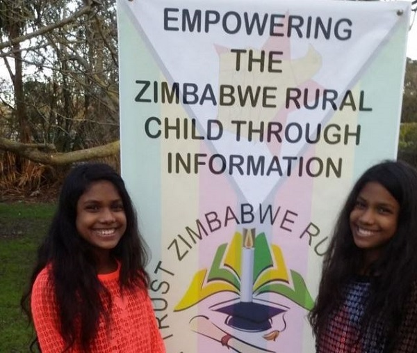 New Zealand twins raising money for Zimbabwe libraries